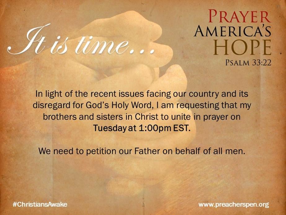 Pray Together – #ChristiansAwake