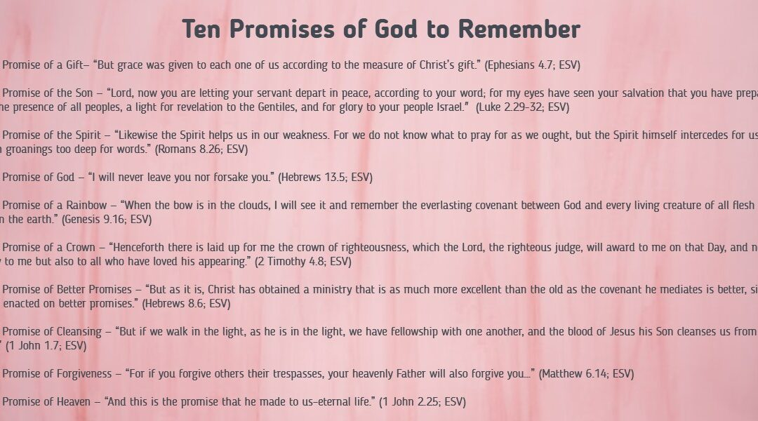 Ten Promises of God to Remember