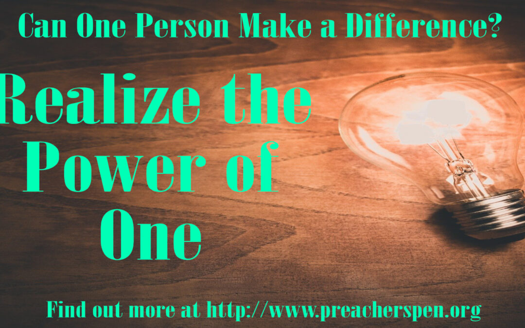 Making a Difference to Others Benefits You – The Power of One Series #9